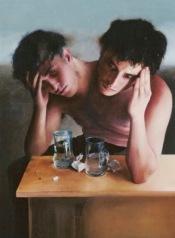 arte-surrealista-pintura (7) hombres de dos cabezas